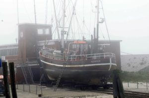 Nebel in Neuharlingersiel