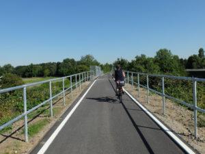 Die Fahrradautobahn nach Finkenwerder